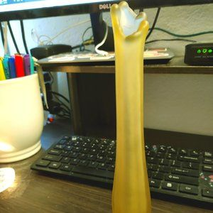 Chic Yellow Frosted Vase/Candlestick Holder